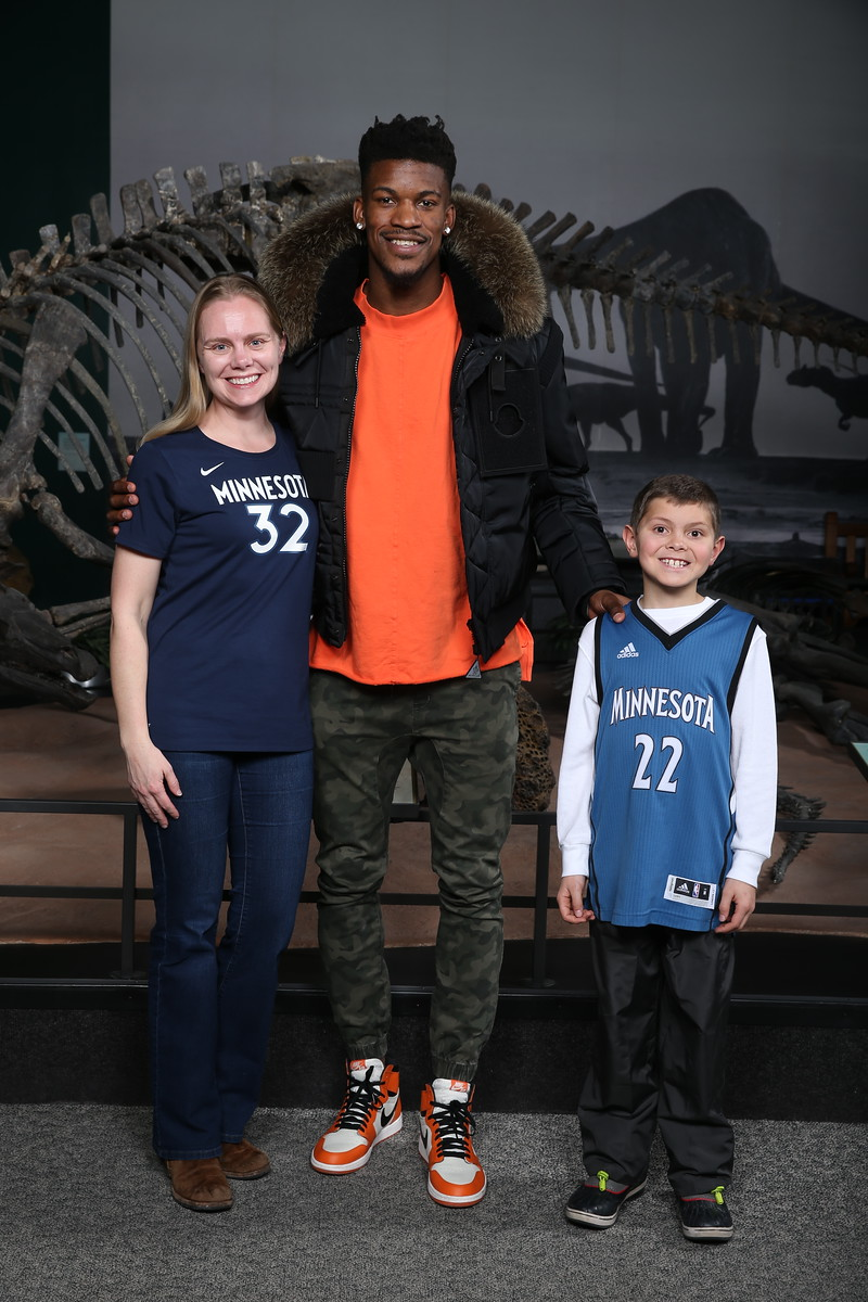John and Cheryl with Jimmy Butler.