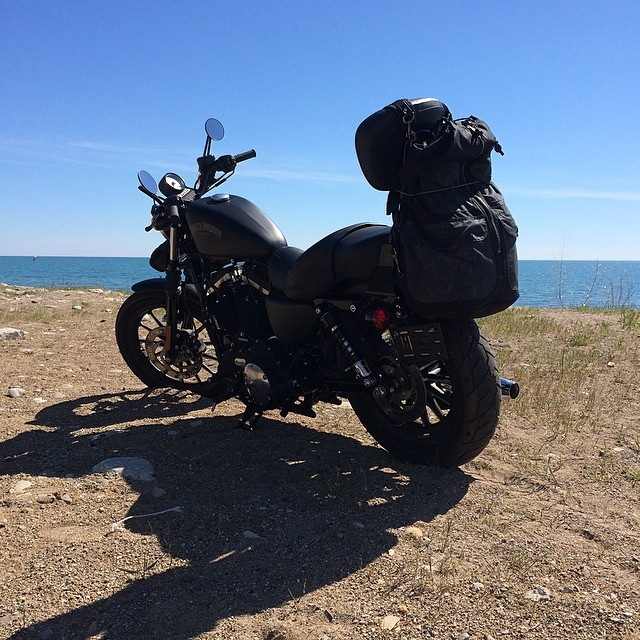 Our Harley Davidson Sportster Iron 883 Along Kenosha Beach